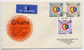 1964, 15.Jun., Lp.-FDC m. MiF. ACCRA(Handstpl.) in die U.S.A. Porto: 2'-.