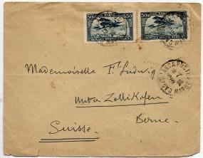 1925, 15.Apr., Bf.m. MeF. CASABLANCA POSTES(Handstpl.) in die Schweiz. Porto: F 1.00.