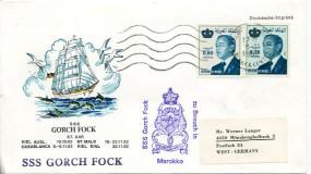 1981, 8.Nov., Drucks.-Bf.m. MiF. CASABLANCA CENTRE TRI(Masch.-Stpl.) nach Westdeutschlan...
