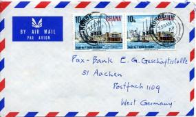 1975, 8.Apr., Lp.-Bf.m. MiF. HOHOE A GHANA(Handstpl.) nach Westdeutschland. Porto: C.0.2...