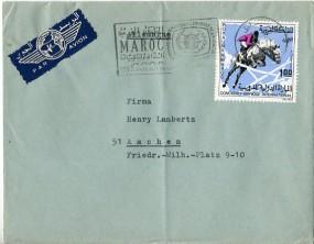 1967, 8.Nov., Lp.-Bf.m. EF. RABAT. - ANNEE INTERNATIONALE DU TOURISME..(Masch.-Werbestpl...